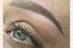 Перманентный макияж бровей-Татуаж бровей-Татуаж до и после
