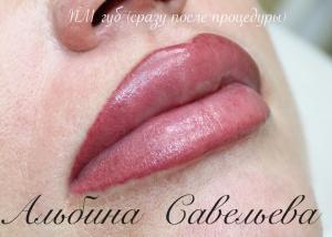татуаж губ фото, перманентный макияж губ, татуаж губ с растушевкой, татуаж губ фото до и после