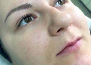 Перманентный макияж бровей в Авторской технике 3Д. Татуаж бровей зажившие. Межресничное пространство век глаз. Татуаж век зажившие.