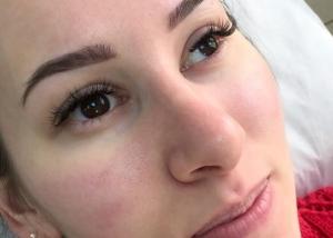 Перманентный макияж бровей зажившие фото в Москве. Татуаж бровей Москва зажившие