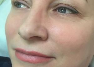 Перманентный макияж бровей зажившие фото в Москве. Мастер татуаж Альбина Савельева.
