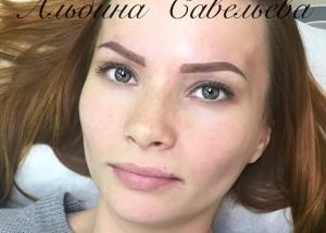 Татуаж бровей в Москве сразу после процедуры. Перманентный макияж бровей сразу после процедуры