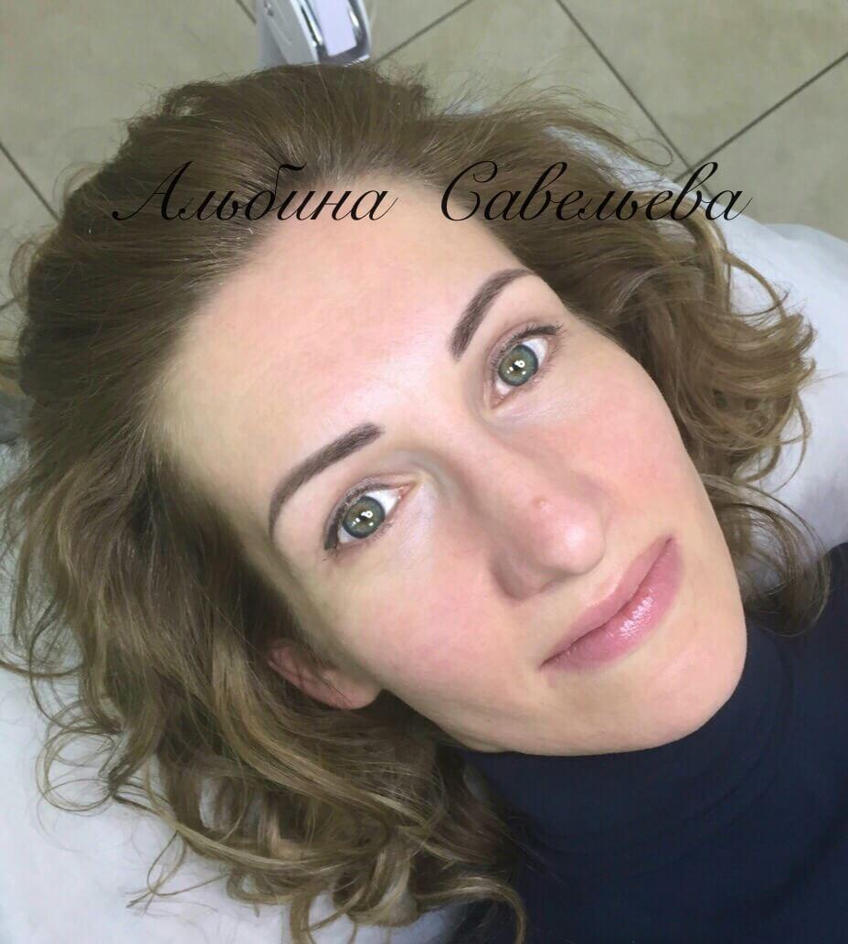Перманентный макияж бровей и глаз зажившие сразу после процедуры